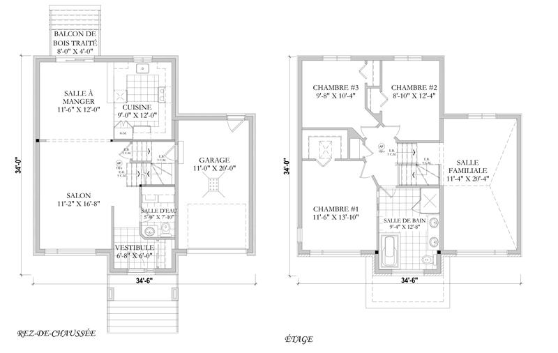Images Du Plan De Maison Unifamiliale W3452